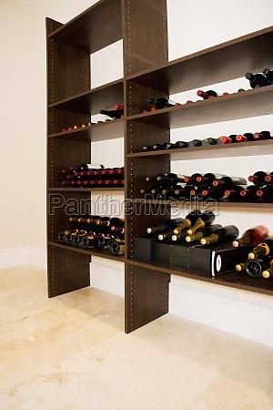 alcoholic bottles on shelves