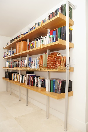 bookshelf in the living room