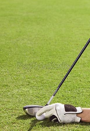 man playing golf in a golf