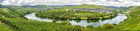 beautiful panorama from trittenheim in germany
