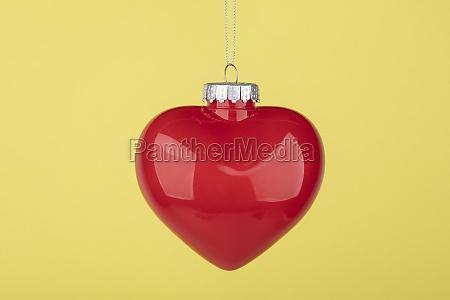 decorative christmas ball heart