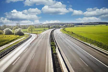 low car traffic on autobahn