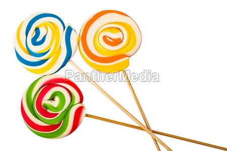 three sweet lollipops