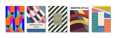 set of memphis style covers flat