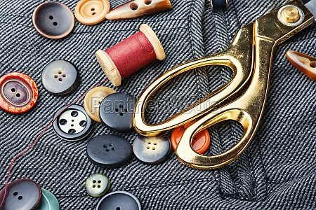 fabrics and sewing accessories