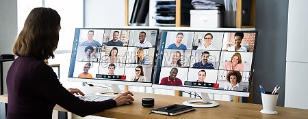 online virtual video conference webinar