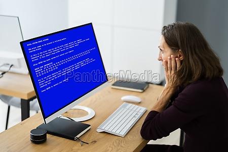 blue bsod error at computer
