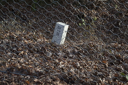 border stone at the state border