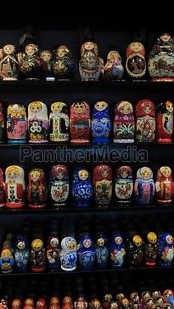 russian matryoshka or babushka dolls