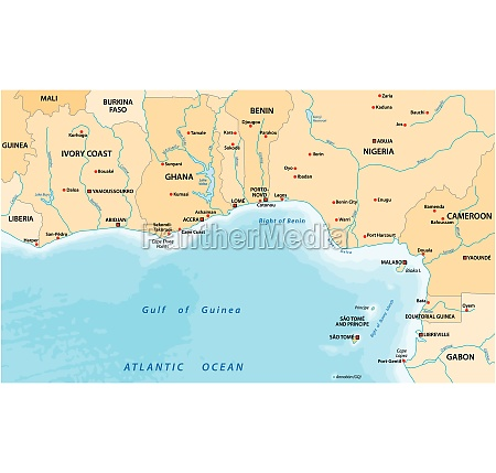 vector map of the gulf of