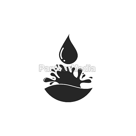 water drop logo template vector illustration