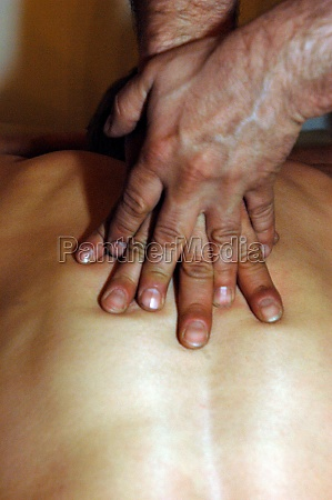 skin contact during back massage