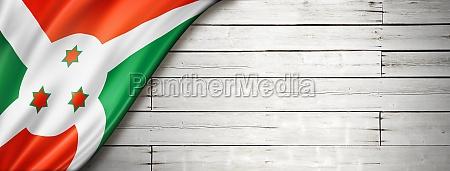 burundian flag on old white wall