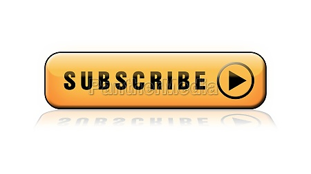subscribe lettering orange button with