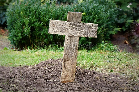 simple cheap wooden cross on a