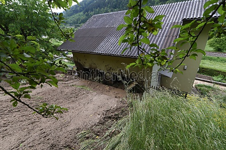 storm damage caused by mudslides