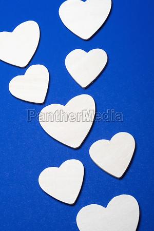 close up of paper hearts