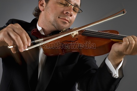 close up of a musician playing