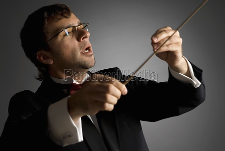 close up of a music conductor