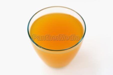 high angle view of orange juice