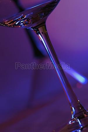 close up of a martini glass