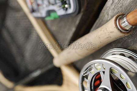 close up of a fishing reel