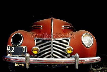 close up of a vintage car