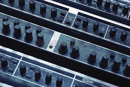 sound mixer close up