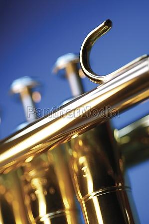 close up of trumpet keys