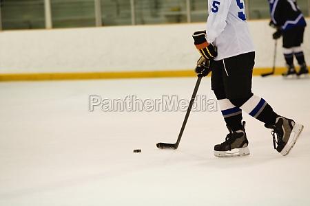 side profile of an ice hockey