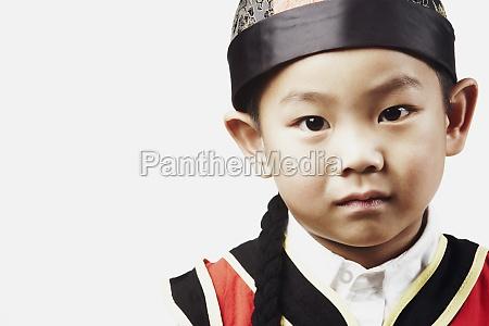 portrait of a boy posing