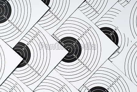 close up of shooting targets