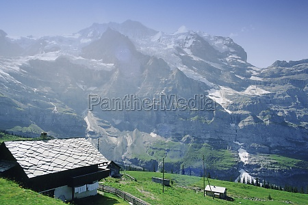 low angle view of mountains jungfrau