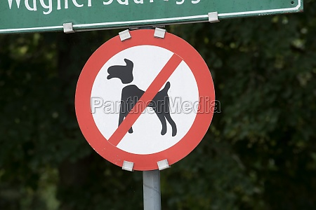 no dogs allowed sign in a