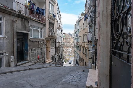 view of a narrow street with