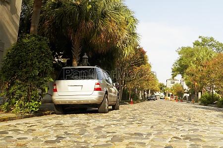 car parked at the roadside charleston