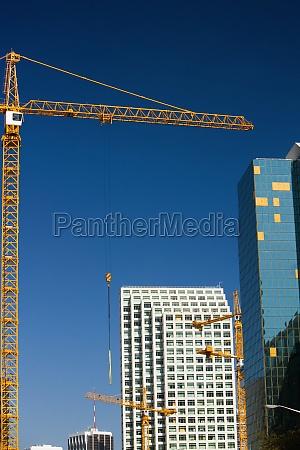 low angle view of a crane