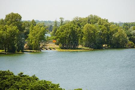 trees at a lakeside bordeaux lake
