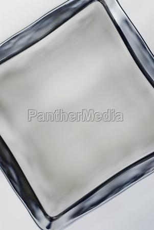 closeup of an ice cube