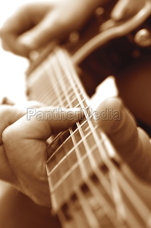 extreme close up of man playing