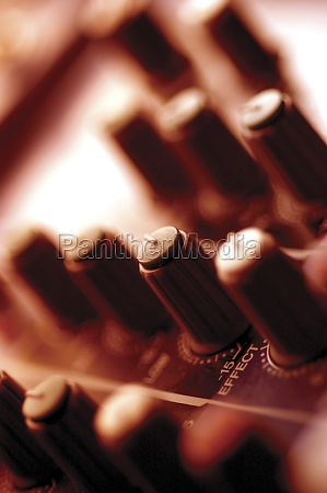 sound mixer extreme close up
