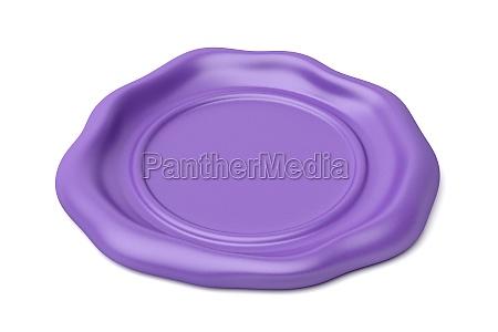 purple wax seal