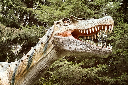 dinosaur with open mouth