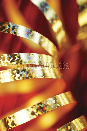 close up of golden decorative string