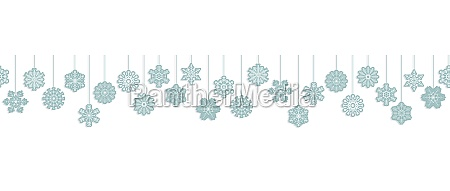 hanging snow stars banner for christmas