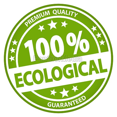 round business button 100 ecological