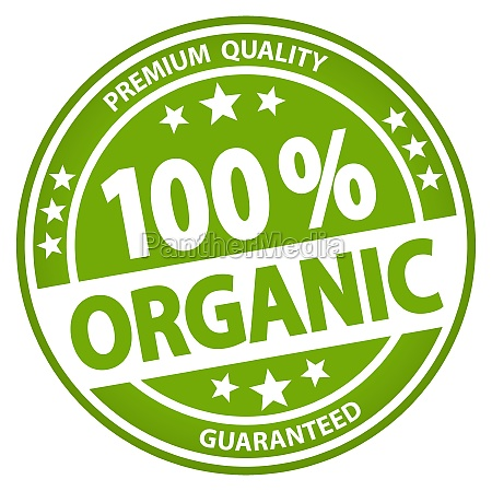round business button 100 organic