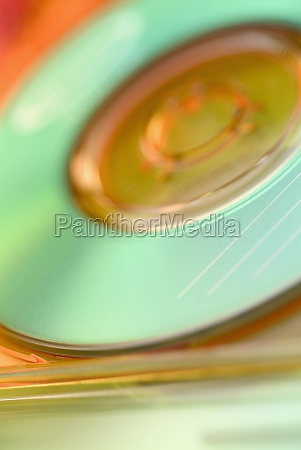 close up of a cd in