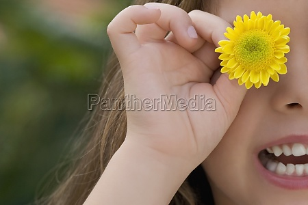 closeup of a girl holding a