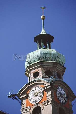 low angle view of a clock